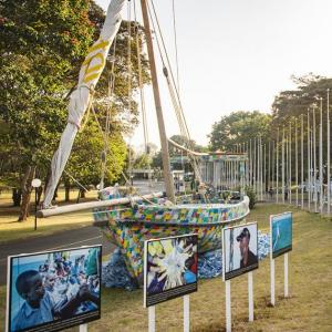 Flipflopi drops anchor at UN summit to inspire decision makers to reimagine the world